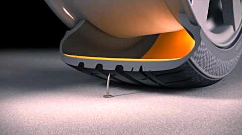 Демонстрация проколов в шинах с герметиком